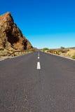krater marznąca lawowa droga Zdjęcia Royalty Free