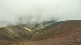 Krater Silvestri Superiori auf dem Ätna, Sizilien, Italien stock video