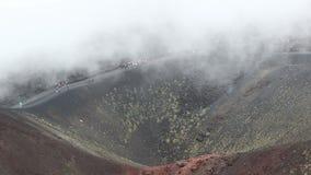 Krater Silvestri Superiori op Onderstel Etna, Sicilië, Italië stock videobeelden