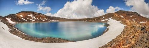 Krater sjö - Tongariro nationalpark, Nya Zeeland Royaltyfri Fotografi