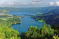Krater sjöar Arkivfoton