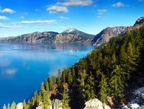 Krater sjönationalpark, Oregon Förenta staterna Arkivfoto