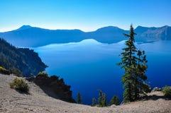 Krater sjönationalpark, Oregon, USA Arkivfoton