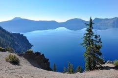 Krater sjönationalpark, Oregon, USA Arkivbilder