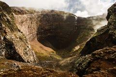 Krater uśpiony Vesuvius wulkan, Naples, Włochy Zdjęcia Stock