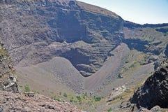 Krater uśpiony wulkan Vesuvius obrazy stock