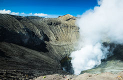 Krater van Bromo, Indonesië Royalty-vrije Stock Foto's