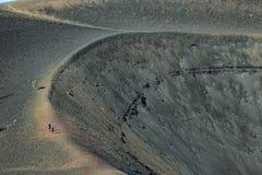 Krater van Cinder Cone, het Vulkanische Nationale Park van Lassen royalty-vrije stock foto