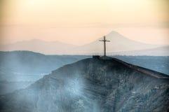 Krater van de Mombacho-Vulkaan dichtbij Granada, Nicaragua Royalty-vrije Stock Foto