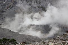 Krater van Tangkuban Perahu Bandung in Jawa, Royalty-vrije Stock Afbeelding