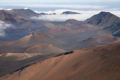 Krater van vulkaan Haleakala Royalty-vrije Stock Afbeeldingen