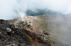 Krater van vulkaan Yzalco, El Salvador Stock Foto