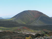 Krater von Ätna stockfotos