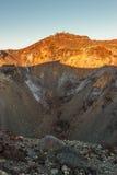 Krater von Mt fuji Stockfotos