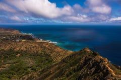 Krater w Oahu Zdjęcia Royalty Free