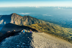 Krater-Wandern Lizenzfreies Stockfoto