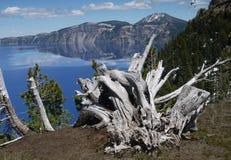 krater wyspy czarodziej jeziora Fotografia Royalty Free
