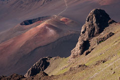 kraterhaleakala Arkivfoto