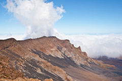 kraterhaleakalahawaii maui vulkan Arkivfoto