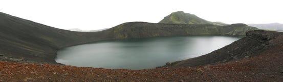 kratericeland lake Arkivfoton