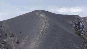 Kraterkant av den Irazu vulkan Royaltyfri Fotografi