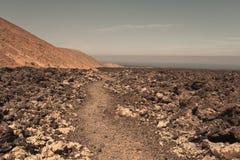 Kraterkante Stockbild