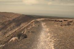 Kraterkante Stockfoto