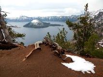 kraterlake 2008 oregon USA Fotografering för Bildbyråer