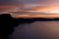 Kratermeer bij zonsopgang Stock Fotografie