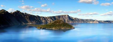 Kratermeer, Nationaal Park, Oregon Verenigde Staten royalty-vrije stock afbeelding