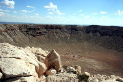 kratermeteor Fotografering för Bildbyråer