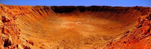 kratermeteor Arkivbilder