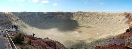 kratermeteorpanorama Arkivfoton