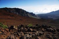 Kraters bij Nationaal Park Haleakala Royalty-vrije Stock Foto's
