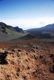 Kraters bij Nationaal Park Haleakala Royalty-vrije Stock Afbeeldingen
