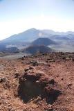Kraters bij Nationaal Park Haleakala Stock Afbeelding