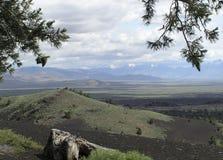 Kraters - lavastromen Stock Afbeelding