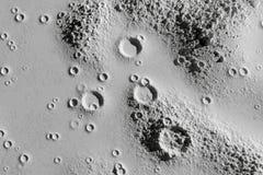 Kraters op de maan luchtclose-up stock illustratie