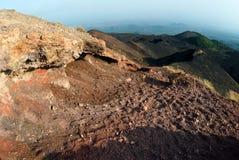Kraters Silvestri van de Etna Stock Foto