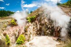 Kraters van de Maan in Nieuw Zeeland stock afbeeldingen