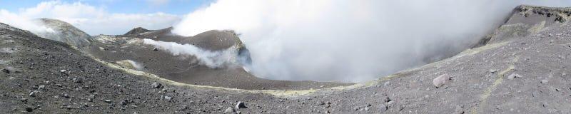 krateru Etna główny s wulkan zdjęcia stock