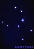 Krateru gwiazdozbiór Zdjęcie Royalty Free