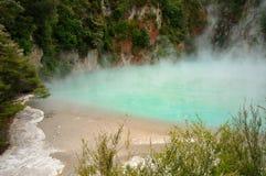 krateru jatki dolinny powulkaniczny waimangu Obraz Royalty Free