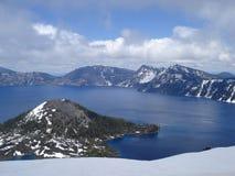 krateru jeziora Zdjęcie Stock