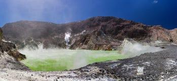 Krateru Jeziora Panorama Obraz Royalty Free