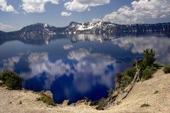 Krateru Jeziora Park Narodowy Obrazy Royalty Free