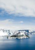 krateru jeziora park narodowy Obraz Royalty Free