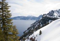 krateru jeziora park narodowy Obraz Stock
