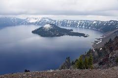 krateru jeziorny krajowy Oregon park Obrazy Royalty Free