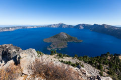 krateru jeziorny krajowy Oregon park Fotografia Royalty Free